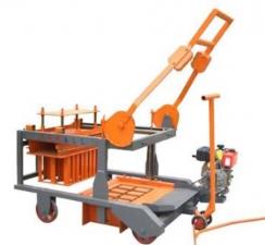 如何保养与维护鹏达CXJ4-A型移动式空芯制砖机