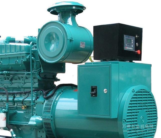 柴油等为燃料,以小型柴油机为原动机带动发电机发电的动力机高清图片
