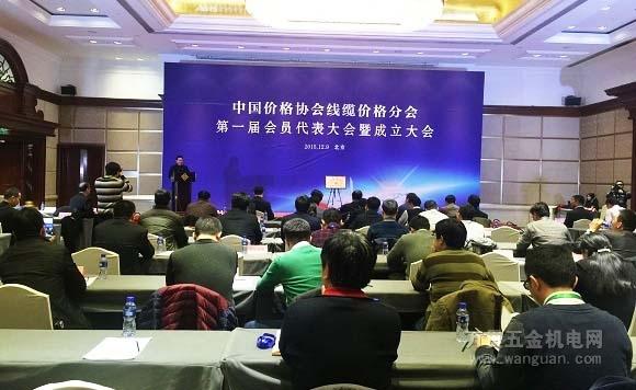 中国价格协会线缆价格分会成立大会现场