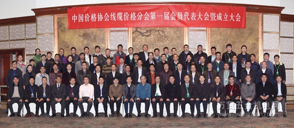 出席中国价格协会线缆价格分会成立大会参会人员合影