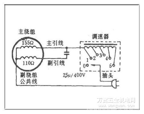 吊扇调速器接线图解