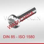 DIN85 开槽平圆头螺钉