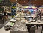 漳州自助小火锅设备厂家直销 回转式火锅餐桌 旋转麻辣烫餐桌