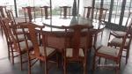 新中式酒店电动餐桌 遥控自动餐桌 输送带椭圆餐桌 酒店圆桌