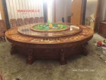 酒店专用餐桌供应圆形电动餐桌 实木雕花电动餐桌 圆形电动餐桌