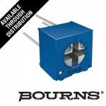 原装进口美国BOURNS精密多圈玻璃釉可调电位器3362P-