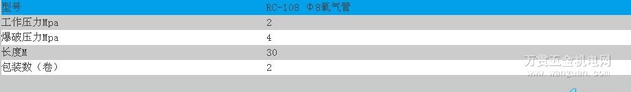 RC-108 Φ8氧气管 宁波日出牌 四川成都质量保证