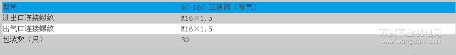 RC-160三通阀(氧气) 宁波日出牌 四川成都 质量保证