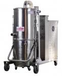 海安冶金鑄造廠用威德爾耐高溫吸塵器吸高溫鐵渣雙層冷卻系統