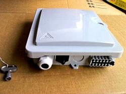 PC塑料1分8光分路器箱 塑料8芯光纤分纤箱