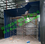 四川成都環保驗收  鋼結構噴漆件打磨房噴漆房+廢氣處理成套