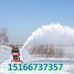 隆鑫发动机小型道路扫雪机手推式抛雪机