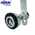 JK431锌合金电梯层门锁 电梯专业人钥匙锁 电梯三角锁