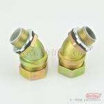厂家热销铁镀锌软管接头  45度弯接头 铁镀锌快速接头加工定