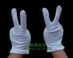 建博儿童白色纯棉手套 礼仪表演舞台专用