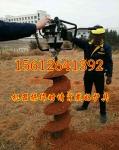 新疆地区地钻打洞机汽油机带动打坑机图片