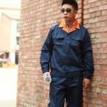 秋季长袖工作服套装 男 工服套装 劳保服工作制服 汽修服工衣