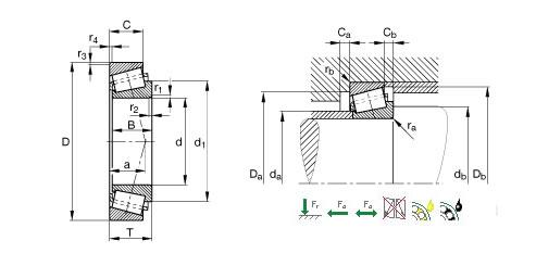 TIMKEN LM48548PX/LM48510PX1圆锥滚子轴承图纸