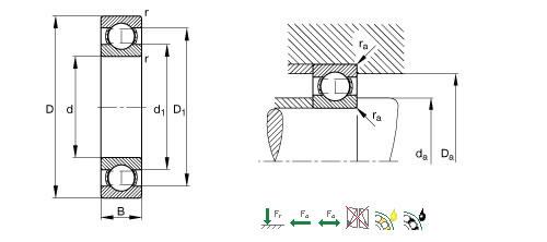 FAG 618/4深沟球轴承图纸
