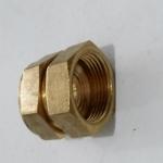 12.16内丝直接 铝塑管铜管件 卡套式铜接头