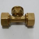 12.16内丝三通 铝塑管铜管件 卡套式接头