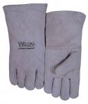 成都電焊手套批發 四川灰色牛二層頸皮斜拇指款手套價格實惠