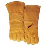 成都手工电焊牛皮手套定做 腾飞达二层双背皮款手套