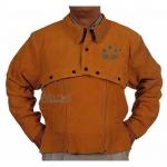 四川成都開背式焊服訂做 成都騰飛達勞保皮焊服價格