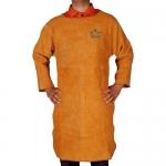 成都騰飛達勞保帶袖圍裙(長袖)金黃色皮焊服批發價