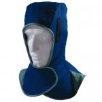 成都电焊帽专业销售公司 腾飞达蓝色阻燃布全护款电焊帽价格