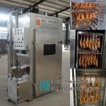 板鸭烟熏箱,250公斤熏酱板鸭机器,熏鸭蒸熏烤炉