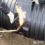 新疆联塑牌HDPE聚乙烯钢带缠绕波纹排水管