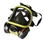 雙過濾盒全面防護防毒面具