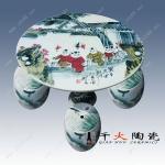 手绘园林装饰陶瓷桌椅 陶瓷桌椅定制厂家
