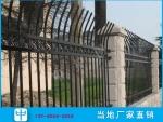 琼中锌钢栅栏护栏 镀锌管围墙围栏 尖头防爬栏杆