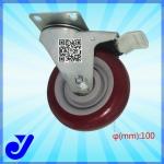 JY-403|4寸脚轮,平板万向带刹车