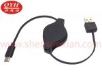 USB-A TO USB-C手机快充伸缩线