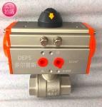 不锈钢304气动两片式球阀 Q611F-16P气动内螺纹球阀