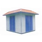 用琉璃瓦和彩钢复合板装修外表的户箱式变电站