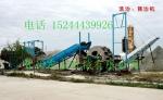潍坊洗石粉一条生产线DW-X12螺旋洗石机含挖斗水轮