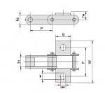 成都链条链轮供应商 C型钢制农机链及附件