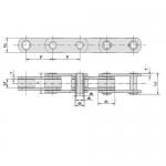 西南链条链轮供应商 A系列直板滚子链条