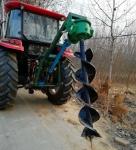黄石植树挖坑机设备   打桩机挖坑机视频