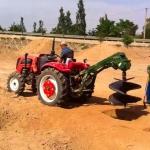 四平拖拉机挖树坑机厂家