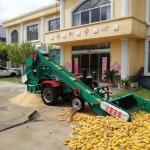 铁麒麟 自走式玉米脱粒机 大型全自动打棒子机子价格