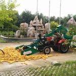鲁丰小四轮拖拉机带全自动玉米脱粒机视频