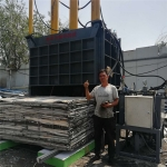 铁麒麟180吨铝合金立式液压打包机