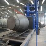 辊道通过式抛丸机厂家、用于钢结构、钢材除锈行业