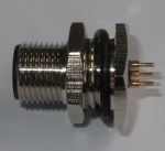 传感器插座,标准M12*1螺纹连接防水航空接插件