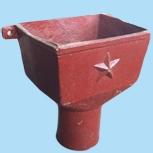 铸铁方形接水口 方形接水斗 铸铁漏斗雨水落水斗